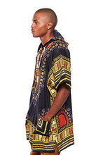 Load image into Gallery viewer, Black/yellow Dashiki Hoodie