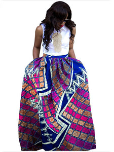 Pattern 5 African Printed Dashiki Skirt