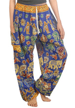 Load image into Gallery viewer, Elephants 2 Blue Dashiki Pant