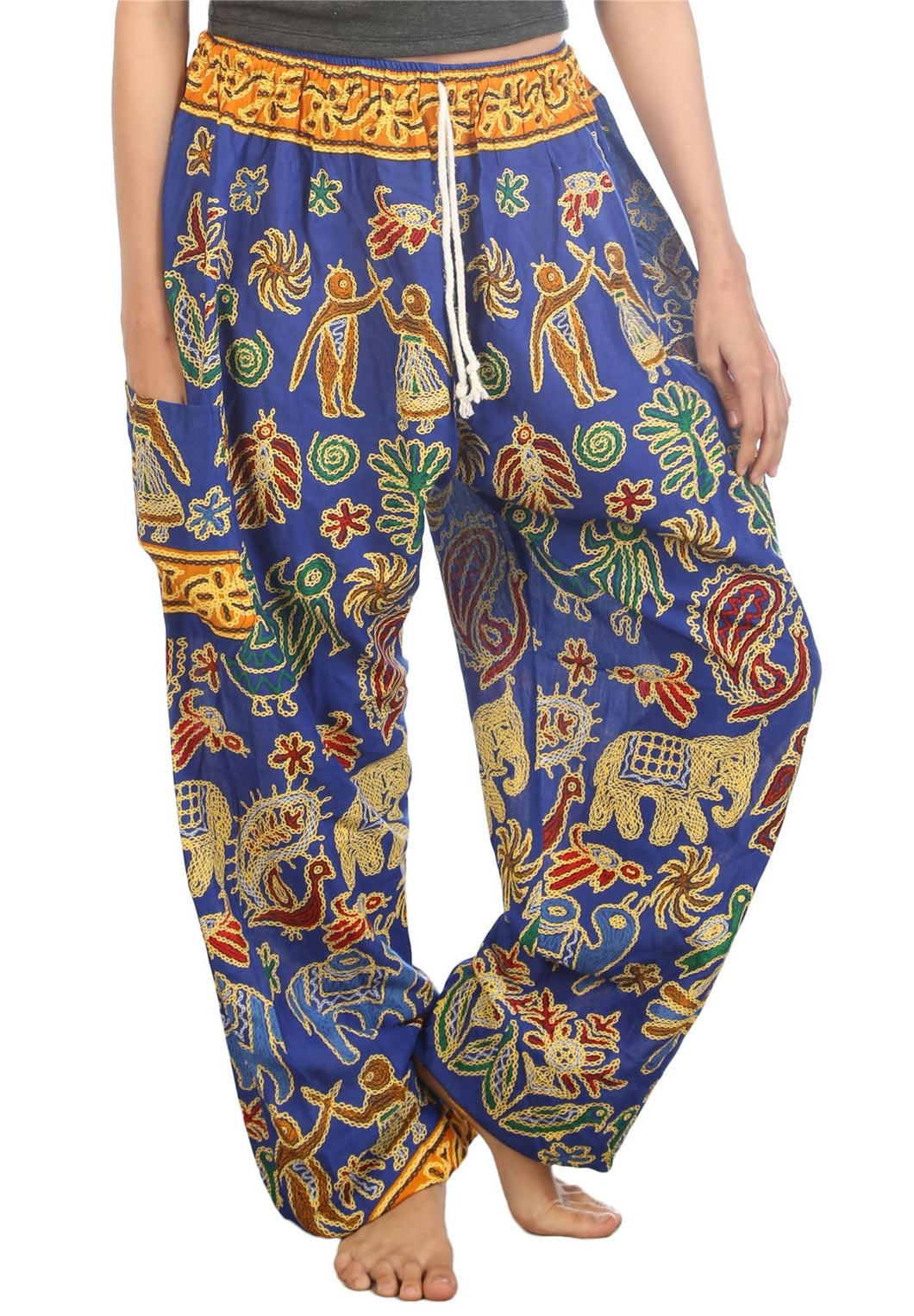 Elephants 2 Blue Dashiki Pant