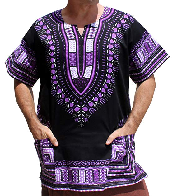 Violet / Black Dashiki Shirt