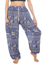 Load image into Gallery viewer, Elephants 3 Blue Dashiki Pant