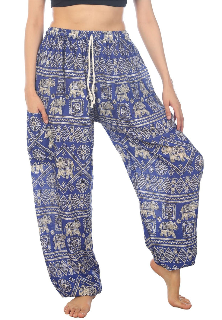Elephants 3 Blue Dashiki Pant