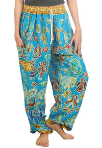 Elephants 2 Light Blue Dashiki Pant