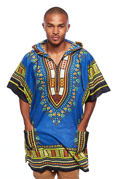 Royal/Black Dashiki Hoodie