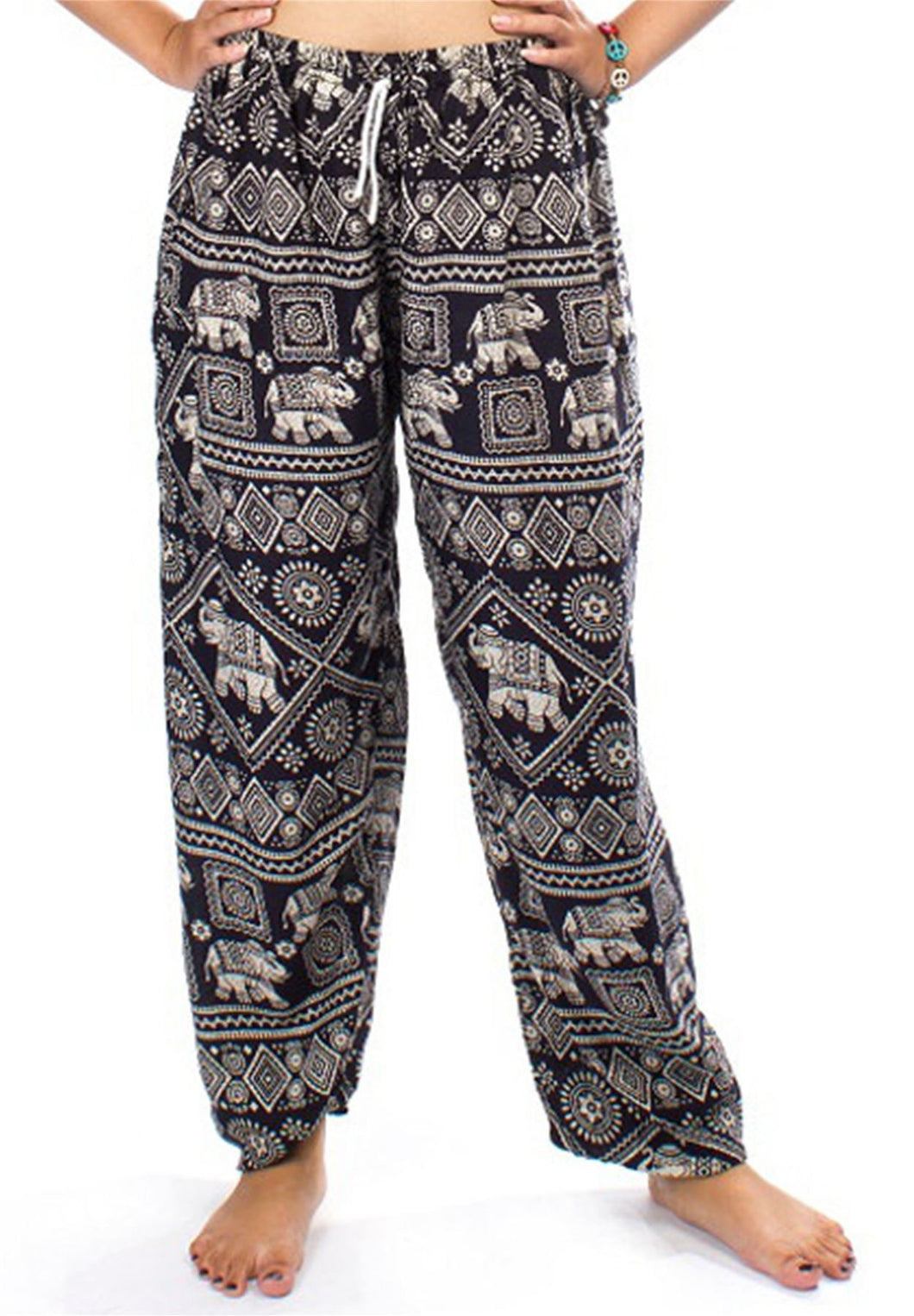 Elephants 3 Black Dashiki Pant