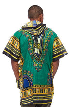 Load image into Gallery viewer, Green Dashiki Hoodie