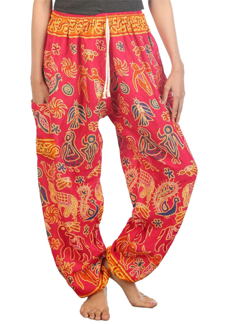 Elephants 2 Pink Dashiki Pant