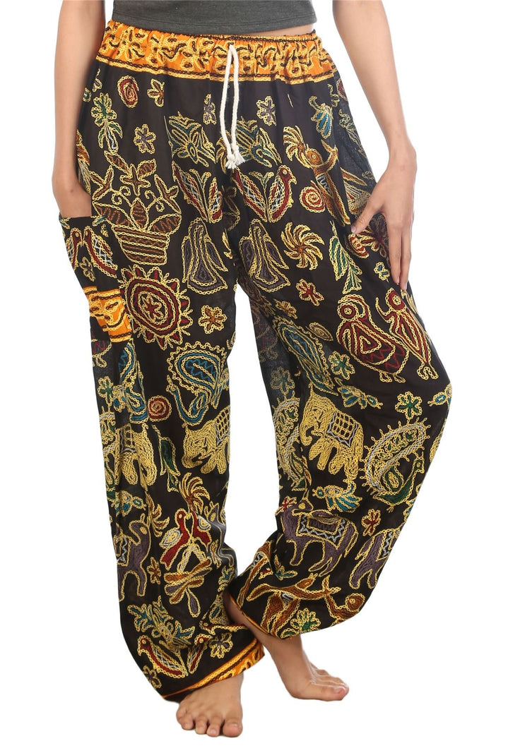Elephants 2 Black Dashiki Pant