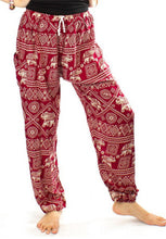 Load image into Gallery viewer, Elephants 3 Burgundy Dashiki Pant
