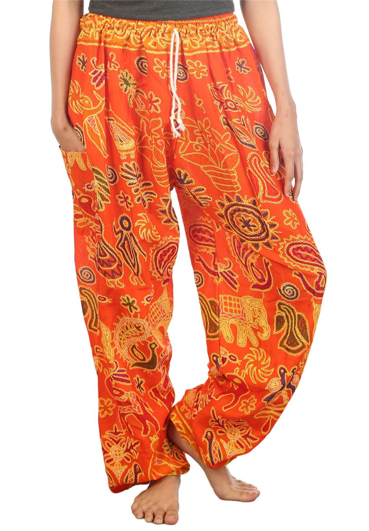 Elephants 2 Orange Dashiki Pant