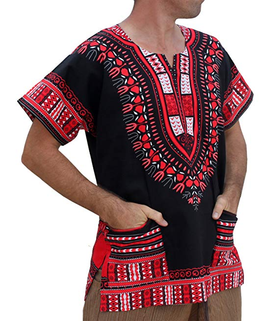 Red/Black Dashiki Shirt