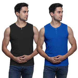 Sirtex Eazy Racer Men's Zip Up Vest (Pack of 2)