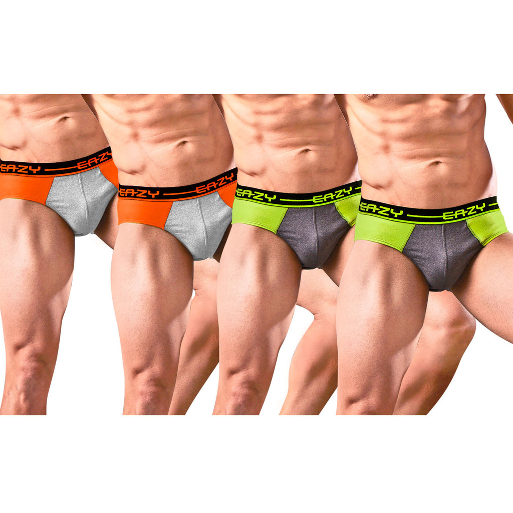 Sirtex Eazy Racer Duos Brief (Pack of 4) : Light Grey Melange & Dark Grey Melange