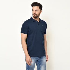 Eazy Men's Pocket Polo T-shirt ( Pack of 2) - Vibrant Mustard & Young Navy
