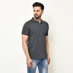 Eazy Men's Pocket Polo T-shirt ( Pack of 2) - Grindle Black & Grindle Maroon
