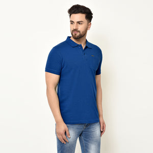 Eazy Men's Pocket Polo T-shirt ( Pack of 2) - Bright Red & Royal Blue