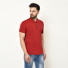 Eazy Men's Zipper Polo T-shirt ( Pack of 2) - Young Navy & Bright Red