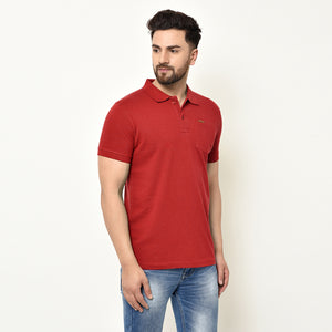 Eazy Men's Pocket Polo T-shirt ( Pack of 2) - Grindle Black & Bright Red