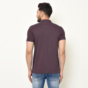 Eazy Men's Zipper Polo T-shirt ( Pack of 2) - Caviar Black & Grindle Maroon