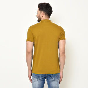 Eazy Men's Zipper Polo T-shirt ( Pack of 2) - Young Navy & Vibrant Mustard