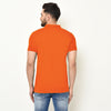 Eazy Men's Pocket Polo T-shirt ( Pack of 2) - Papaya Orange & Caviar Black