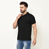 Eazy Men's Pocket Polo T-shirt ( Pack of 2) - Caviar Black & Royal Blue