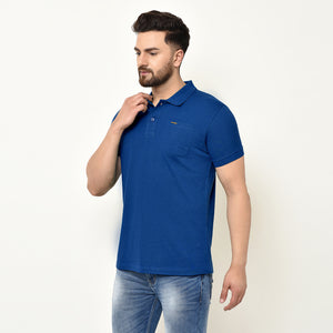 Eazy Men's Pocket Polo T-shirt ( Pack of 2) - Grindle Black & Royal Blue
