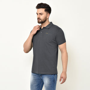 Eazy Men's Pocket Polo T-shirt ( Pack of 2) - Grindle Black & Caviar Black
