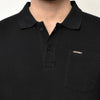 Eazy Men's Pocket Polo T-shirt ( Pack of 2) - Grindle Maroon & Caviar Black