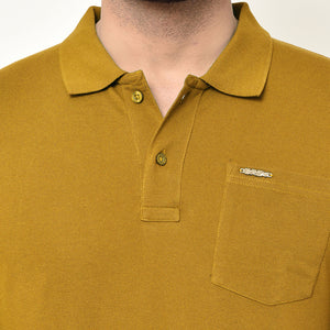 Eazy Men's Pocket Polo T-shirt ( Pack of 2) - Bright Red & Vibrant Mustard