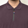 Eazy Men's Zipper Polo T-shirt ( Pack of 2) - Pepper Green & Grindle Maroon