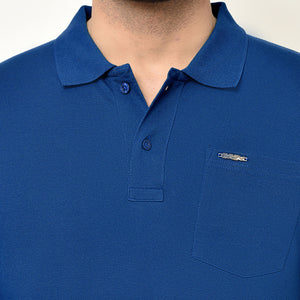Eazy Men's Pocket Polo T-shirt ( Pack of 2) - Ocean Blue & Royal Blue