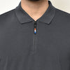 Eazy Men's Zipper Polo T-shirt ( Pack of 2) - Young Navy & Grindle Black