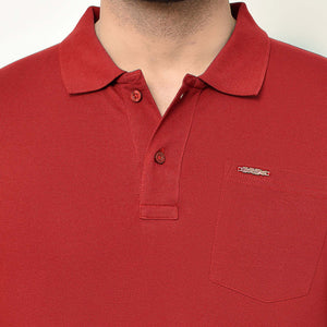Eazy Men's Pocket Polo T-shirt ( Pack of 2) - Grindle Navy & Bright Red