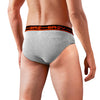 Sirtex Eazy Racer Plain & Duos Brief (Pack of 4) : Light Grey Melange & Dark Grey Melange