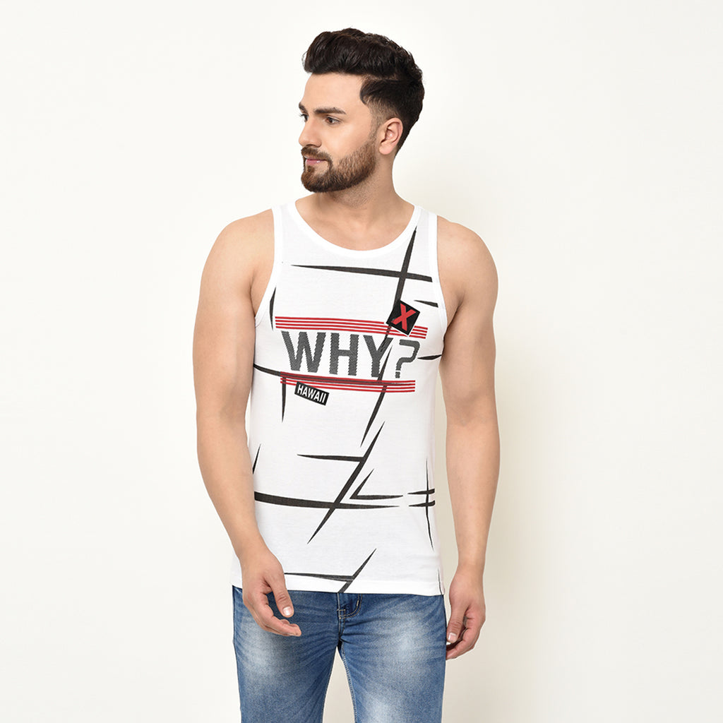 Eazy Plus Printed Gym Vest (Pack of 3)