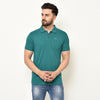 Eazy Men's Pocket Polo T-shirt ( Pack of 2) - Caviar Black & Pepper Green