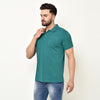 Eazy Men's Pocket Polo T-shirt ( Pack of 2) - Ocean Blue & Pepper Green