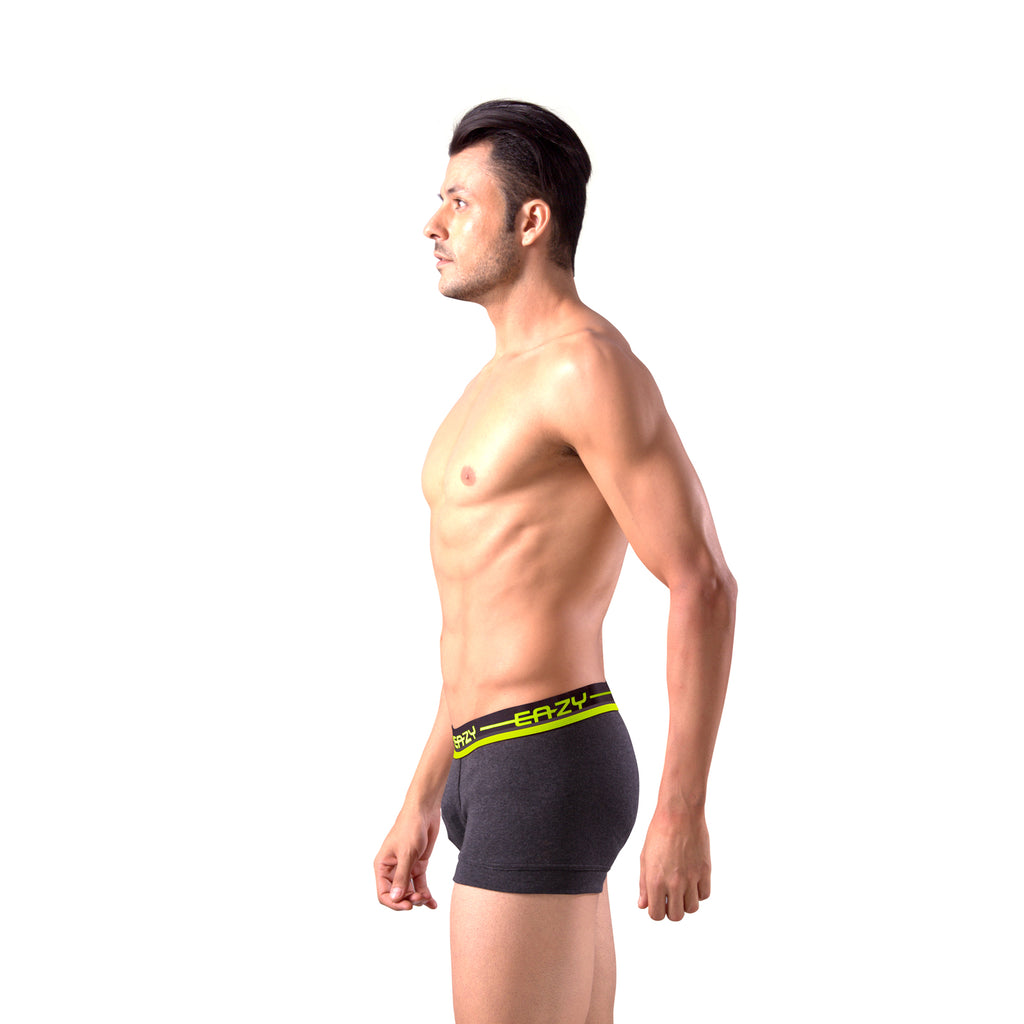 Sirtex Eazy Racer Galaxy Trunk (Pack of 6) : Dark Grey Melange, Indigo & Yellow