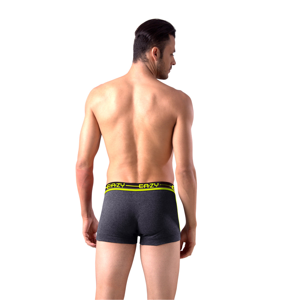 Sirtex Eazy Racer Galaxy Trunk (Pack of 3) :  Dark Grey Melange, Indigo & Yellow