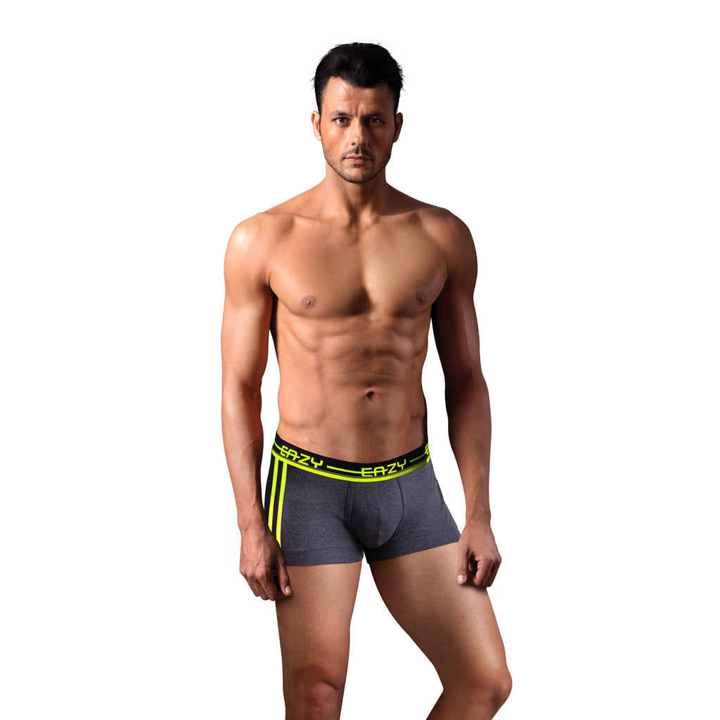 Sirtex Eazy Racer Galaxy Trunk (Pack of 2) : Dark Grey Melange & Yellow