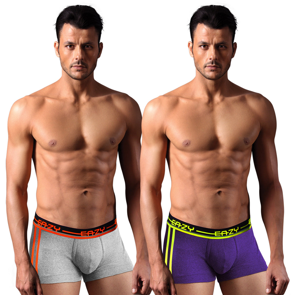 Sirtex Eazy Racer Galaxy Trunk (Pack of 2) : Light Grey Melange & Indigo