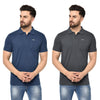 Eazy Men's Pocket Polo T-shirt ( Pack of 2) - Grindle Navy & Grindle Black