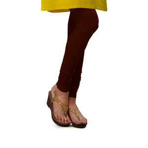Sirtex Eazy M Brown Cotton Lycra Churidar Leggings