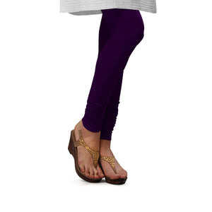 Sirtex Eazy M Purple Cotton Lycra Churidar Leggings