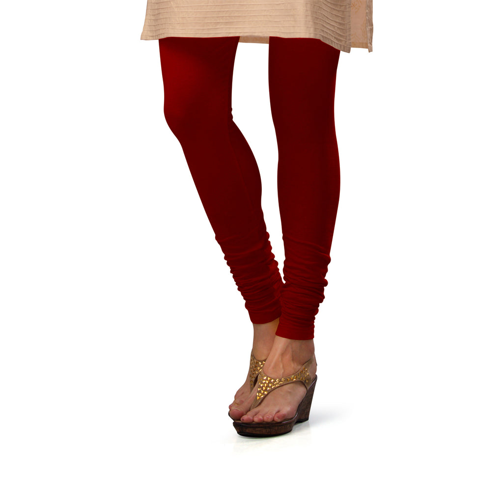 Sirtex Eazy Maroon Cotton Lycra Churidar Leggings