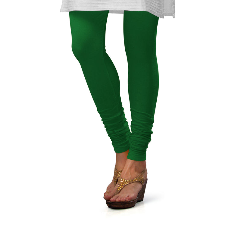 Sirtex Eazy Pak-Green Cotton Lycra Churidar Leggings