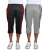 Sirtex Eazy Men's Cotton Blended Three Fourth Track Pant (Pack of 2) : Dark Grey & Light Grey
