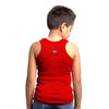 Sirtex Eazy Racer Boys Junior Gym Vest (Pack of 3) : Red, White & Black - RACER-BOY-9003